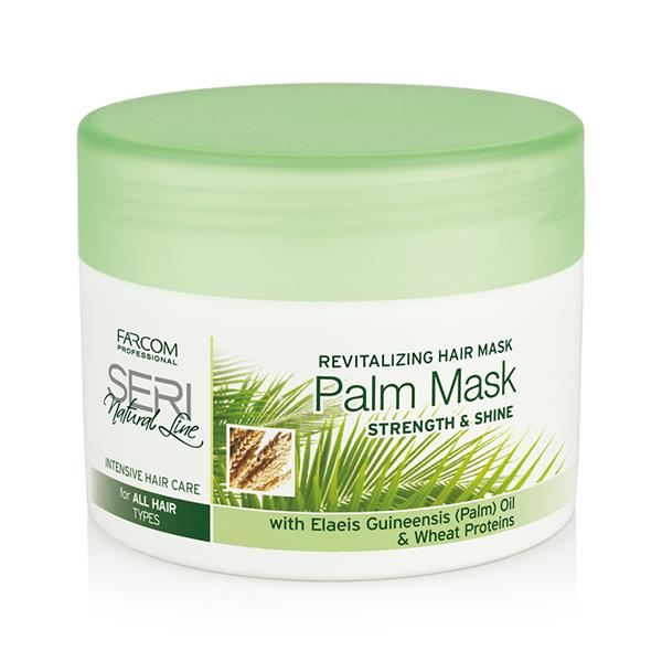 Farcom Professional Seri Natural Line Восстанавливающая маска для всех типов волос с пальмовым маслом и пшеничными протеинами