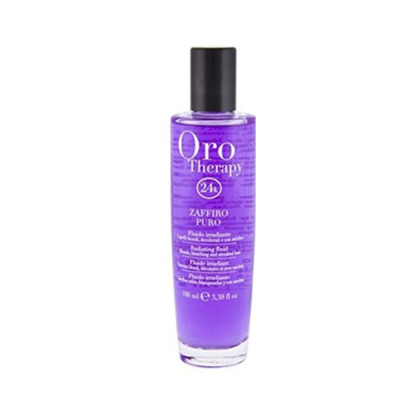 Fanola Oro Therapy 24k Zaffiro Puro Флюид с микрочастицами золота и сапфира для блеска светлых и обесцвеченных волос